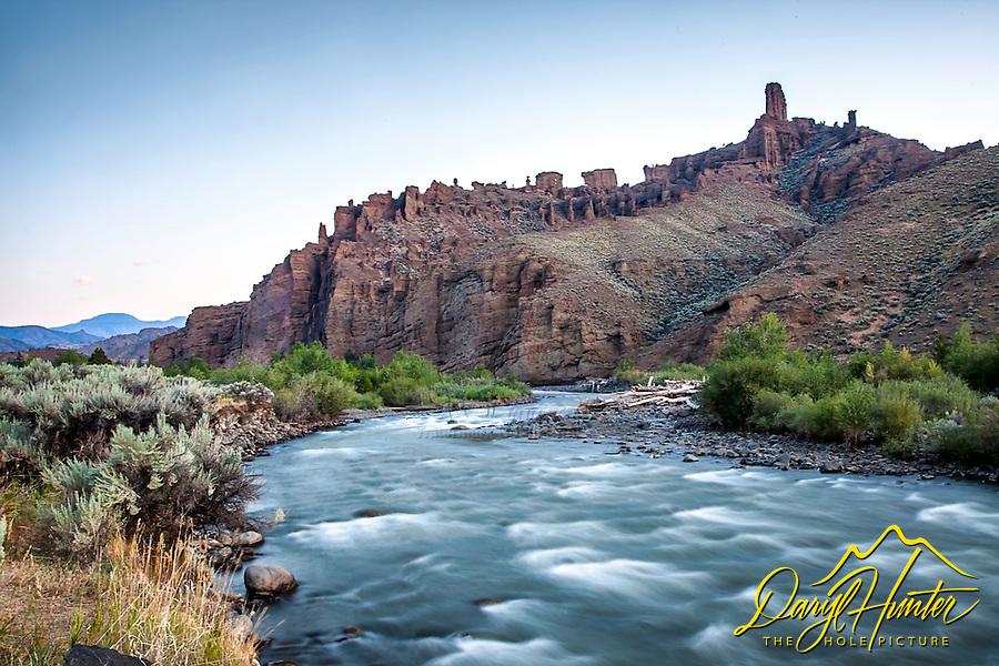 Shoshone River Morning, Abasoraka Mountains,  Cody Wyoming