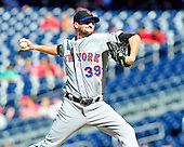 New York Mets pitcher Bobby Parnell pitches in the ninth inning against the Washington Nationals at Nationals Park in Washington, D.C. on Sunday, July 31, 2011.  The Nationals won the game 3 - 2..Credit: Ron Sachs / CNP.(RESTRICTION: NO New York or New Jersey Newspapers or newspapers within a 75 mile radius of New York City)