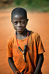 A boy and his slingshot in Sonougouba, Mali, where the ACT Alliance has worked with local residents to encourage a sustainable economy, increase food security, and improve local governance.