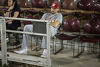 Stanford, Ca - October 8, 2016: Klay Thompson watches the Stanford vs. Washington State game Saturday night at Stanford Stadium. <br /> <br /> Washington State won 42-16.
