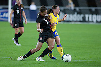 The Women's National teams of USA and Sweden played to 1-1 draw during an International friendly match at University of Phoenix stadium in Glendale, Arizona on Saturday November 19, 2011.