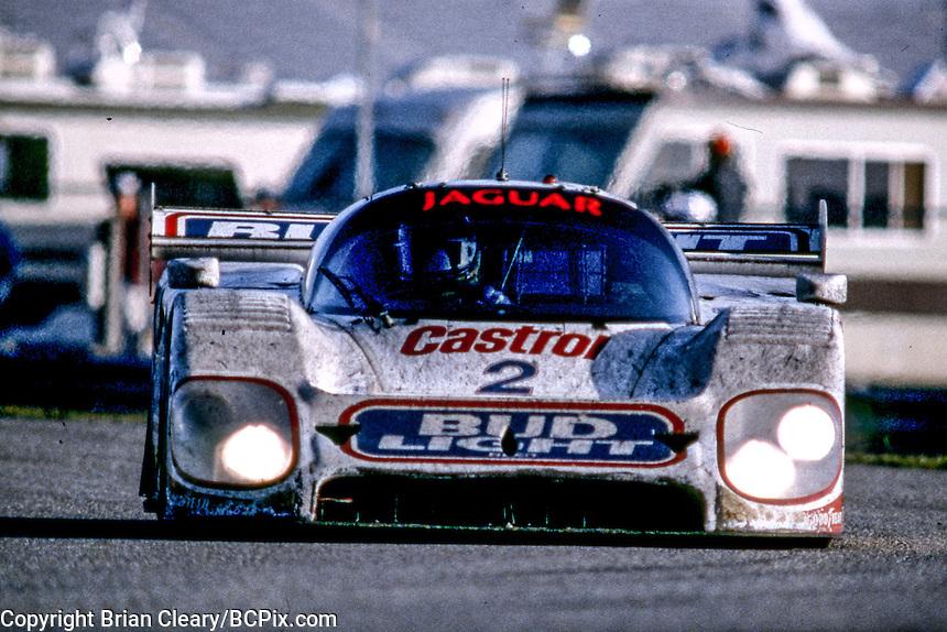 #2 Jaguar XJR-12D of Raul Boesel, Derek Warwick, Scott Pruett and Davy Jones, 30th place finish, 1991 24 Hours of Daytona, Daytona International Speedway, Daytona Beach, FL, February 5, 1978.  (Photo by Brian Cleary/www.bcpix.com)