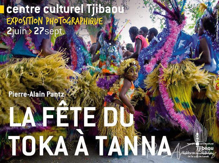 Affiche de l'expo au Centre Tjibaou