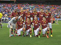 AS Roma starting eleven.  Chelsea FC defeated AS Roma 2-1, during an international friendly , at RFK Stadium, Saturday August 10 , 2013.