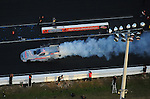 Jan. 21, 2012; Jupiter, FL, USA: Aerial view of NHRA funny car driver Courtney Force during testing at the PRO Winter Warmup at Palm Beach International Raceway. Mandatory Credit: Mark J. Rebilas-