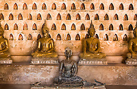 The walls of this lovely wat are lined with thousands of Buddha images of varying sizes and ages. (Photo by Matt Considine - Images of Asia Collection)
