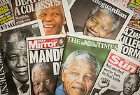 Uk Newspapers Reporting The Death of Nelson Mandela - 06-Dec 2013.
