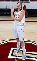 Sophomore members of the Stanford Women's basketball team photo. Photo taken on Wednesday, October 2, 2013