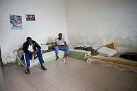 Roma 27 Dicembre 2013<br /> Il Centro di identificazione ed espulsione (CIE), per immigrati di Ponte Galeria a Roma.<br /> Rome December 27, 2013.<br /> The Center for Identification and Expulsion (CIE) for immigrants from Ponte Galeria in Rome.