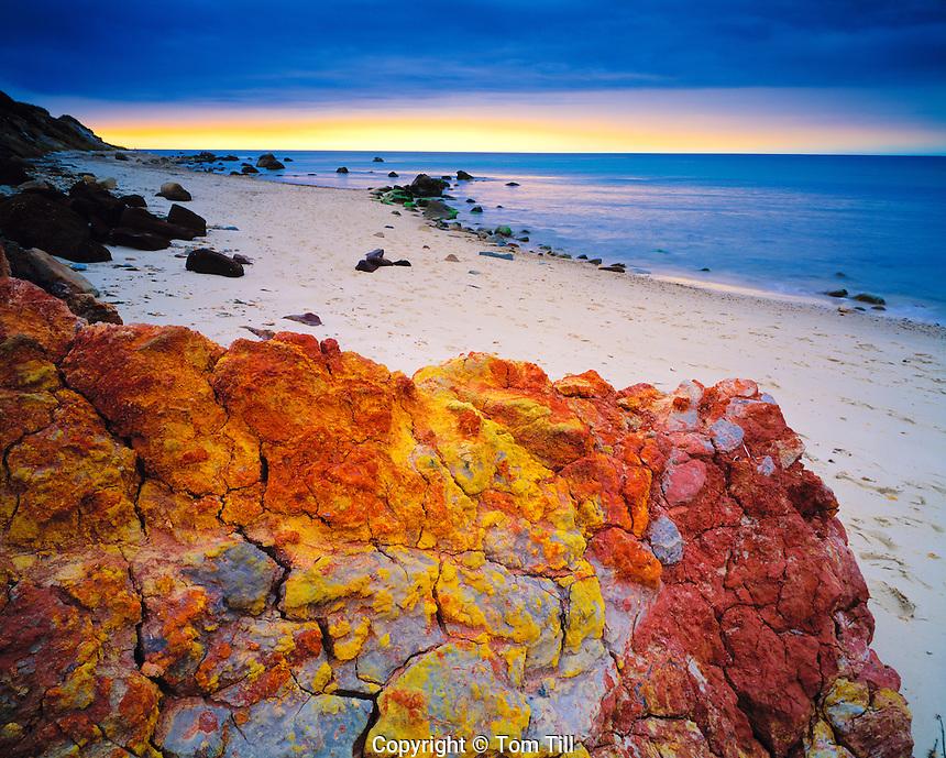 Clay forms at the Aquinnah Cliffs, Marthas Vineyard, Massachusetts