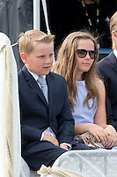 TRONDHEIM, NORWAY - JUNE 23:  Prince Sverre Magnus, and his sister Princess Ingrid Alexandra of Norway, on a visit to Trondheim, during the King and Queen of Norway's Silver Jubilee Tour, on June 23, 2016 in Trondheim, Norway.