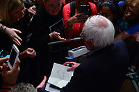 MIAMI, FL - APRIL 19: Senator Bernie Sanders (I-VT) speaks during a 'Come Together and Fight Back' tour at the James L Knight Center on April 19, 2017 in Miami, Florida. Sen. Sanders and DNC Chair Tom Perez spoke about raising the minimum wage, pay equity for women, making public colleges and universities tuition-free, comprehensive immigration reform and tax reform which demands that the wealthy and large corporations start paying their fair share of taxes.  Credit: MPI10 / MediaPunch