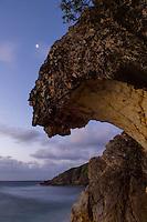 Overhanging rock that resembles a breaking wave.<br /> Reef Bay, St. John <br /> Virgin Islands National Park