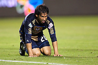 Philadelphia Union forward Carlos Ruiz (20). The LA Galaxy defeated the Philadelphia Union 1-0 at Home Depot Center stadium in Carson, California on  April  2, 2011....