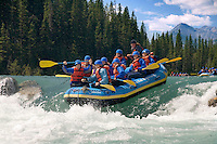 Kananaskis Country, Alberta, Canada, August 2008. Rafting the white waters of the Kananaskis River with 'Inside Out', is an activity suited for the whole family. The Kananaskis is a tranquil and green part of the Rocky Mountains. Away from the masses it offers many outdoor adventure possibilities. Photo by Frits Meyst/Adventure4ever.com
