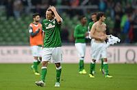 FUSSBALL   1. BUNDESLIGA   SAISON 2013/2014   9. SPIELTAG SV Werder Bremen - SC Freiburg                           19.10.2013 Clemens Fritz (SV Werder Bremen) ist nach dem Abpfiff enttaeuscht