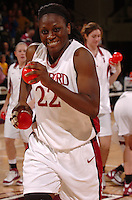21 January 2006: Eziamaka Okafor during Stanford's 84-78 win against Arizona State Sun Devils at Maples Pavilion in Stanford, CA.