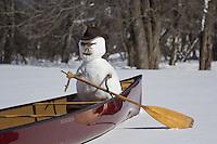 &quot;Snowman Canoeing&quot;<br /> <br /> Anticipation.