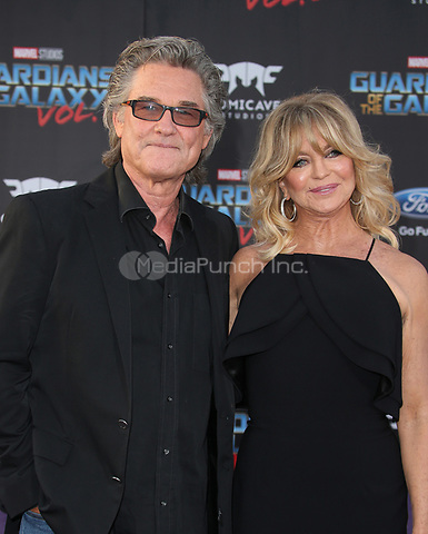 """HOLLYWOOD, CA - April 19: Kurt Russell, Goldie Hawn, At Premiere Of Disney And Marvel's """"Guardians Of The Galaxy Vol. 2"""" At The Dolby Theatre  In California on April 19, 2017. Credit: FS/MediaPunch"""