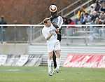 5 November 2006: Duke's Joshua Bienenfeld (18) and Wake Forest's Lyle Adams (behind). Duke defeated Wake Forest 1-0 in overtime at the Maryland Soccerplex in Germantown, Maryland in the Atlantic Coast Conference college soccer tournament final.