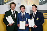 Boys Water Polo finalists Philip Blackbourn, Finn Lowery & Mark Baker. ASB College Sport Young Sportperson of the Year Awards 2007 held at Eden Park on November 15th, 2007.