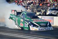 May 18, 2012; Topeka, KS, USA: NHRA funny car driver John Force during qualifying for the Summer Nationals at Heartland Park Topeka. Mandatory Credit: Mark J. Rebilas-