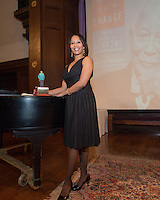 NEW YORK, NY - APRIL 3: Mecca Santana pictured as David N. Dinkins, 106th Mayor of the City of New York, receives the Dr. Phyllis Harrison-Ross Public Service Award for a lifetime of public service at the New York Society of Ethical Culture in New York City on April 3, 2014. Credit: Margot Jordan/MediaPunch