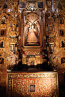 Chapel of the Novices Altarpiece in the Iglesia de San Francisco Javier Church in Tepotzotlan, MexicoThe San Francisco Javier Church and adjoining former Jesuit monastery now house the National Museum of the Viceroyalty or Museo Nacional de Virreinato.