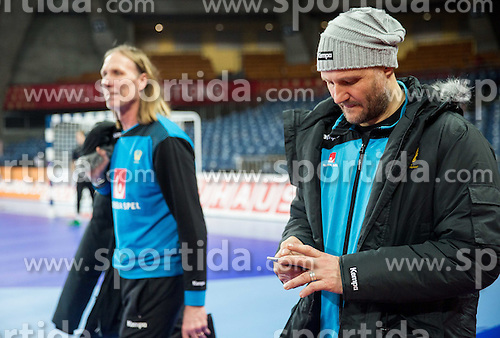 Staffan Olsson and Ola Lindgren during practice session of Team Sweden on Day 1 of Men's EHF EURO 2016, on January 15, 2016 in Centennial Hall, Wroclaw, Poland. Photo by Vid Ponikvar / Sportida