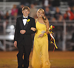 Sophomore maid Avery McCullough is escorted by Josh Keel at Lafayette High vs. Lewisburg in Homecoming football action in Oxford, Miss. on Friday, September 30, 2011.