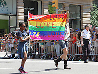 NEW YORK, NY - JUNE 26:  Marchers in the 2016 NYC Gay Pride Parade  in New York, New York on June 26, 2016.  Photo Credit: Rainmaker Photo/MediaPunch