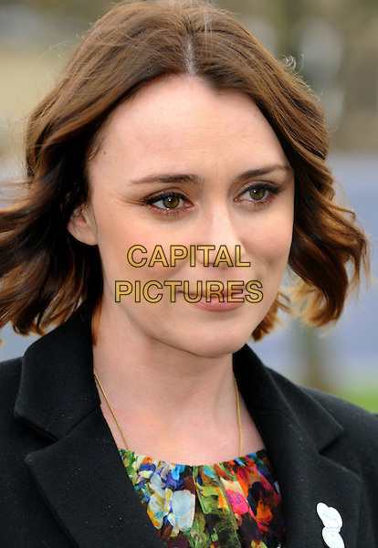 Keeley Hawes .The P&G Capital Clean Up launch campaign photocall, Potters Field, London, England, UK, March 8th 2012..portrait headshot bob print green black.CAP/BK/PP.©Bob Kent/People Press/Capital Pictures..