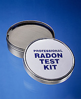 RADON TEST KIT -SHORT TERM CHARCOAL CANISTER<br /> 4&quot; Open Face Canister/Activated Charcoal Filter<br /> Radon (Rn), whose 3 isotopes-Thoron, Actinon &amp; 222Rn- are formed by alpha disintegration of radium &amp; its isotopes, is a colorless, odorless inert gas with human toxicity due to ionizing radiation.