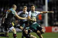Peter Betham of Leicester Tigers in possession. Aviva Premiership match, between Harlequins and Leicester Tigers on February 19, 2016 at the Twickenham Stoop in London, England. Photo by: Patrick Khachfe / JMP