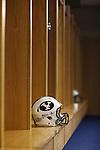 1208-48 170<br /> <br /> 1208-48 BYUtv FTB Ad, Helmet, Y Stretch Logo, Lockers.<br /> <br /> August 17, 2012<br /> <br /> Photo by Jaren Wilkey/BYU<br /> <br /> &copy; BYU PHOTO 2012<br /> All Rights Reserved<br /> photo@byu.edu  (801)422-7322