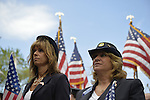 Merrick, New York, U.S. - May 26, 2014 - L-R, MARGARET BIEGELMAN and DEBRA BERNHARDT, members of the Merrick American Legion Auxiliary Post 1282 participate in The Merrick Memorial Day Parade and Ceremony, honoring those who died in war while serving in the United States military.