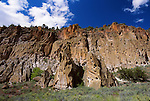 cliffs at Bandelier National Monument