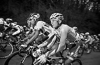 Milan-San Remo 2012.raceday.Svein Tufts tattoo states 'we will never be here again'