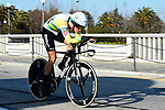 Rohan Dennis (AUS) BMC Racing Team in action during Stage 7 of the 2017 Tirreno Adriatico a 10km Individual Time Trial at San Benedetto del Tronto, Italy. 14th March 2017.<br /> Picture: La Presse/Fabio Ferrari | Cyclefile<br /> <br /> <br /> All photos usage must carry mandatory copyright credit (&copy; Cyclefile | La Presse)