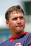 11 March 2006: Ryan Zimmerman, third baseman for the Washington Nationals, looks toward the batting cage prior to a Spring Training game against the Los Angeles Dodgers. The Nationals defeated the Dodgers 2-1 in 10 innings at Space Coast Stadium, in Viera, Florida...Mandatory Photo Credit: Ed Wolfstein.