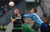 Fussball 1. Bundesliga :  Saison   2012/2013   9. Spieltag  27.10.2012 SpVgg Greuther Fuerth - SV Werder Bremen Nils Petersen (li, SV Werder Bremen)  gegen Torwart Max Gruen (Greuther Fuerth)