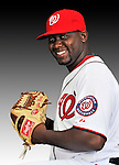 25 February 2011: Sharion Martis poses for his Washington Nationals Photo Day portrait at Space Coast Stadium in Viera, Florida. Mandatory Credit: Ed Wolfstein Photo