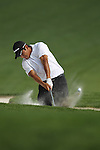 May 8,2011 - Andres Romero hits out of the bunker on number 15.  Lucas Glover wins the tournament in sudden death over Jonathan Byrd at Quail Hollow Country Club,Charlotte,NC.