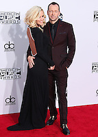LOS ANGELES, CA, USA - NOVEMBER 23: Jenny McCarthy, Donnie Wahlberg arrive at the 2014 American Music Awards held at Nokia Theatre L.A. Live on November 23, 2014 in Los Angeles, California, United States. (Photo by Xavier Collin/Celebrity Monitor)