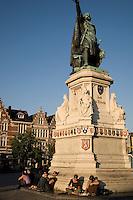 Jacob Van Artevelde, Vrijdag Markt- Market Square, Ghent, Belgium, Europe