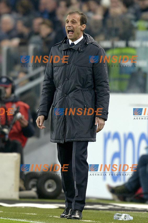 Massimiliano Allegri Juventus,<br /> Torino 27-01-2016, Juventus Stadium, Football Calcio 2015/2016 Coppa Italia, Juventus - Inter, Foto Filippo Alfero/Insidefoto