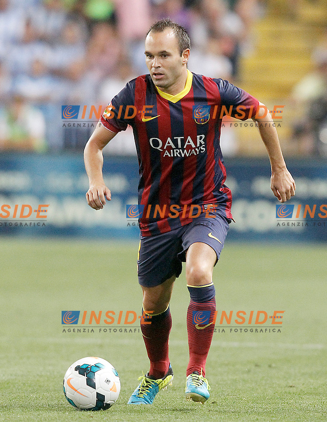 FC Barcelona's Andres Iniesta during La Liga match.August 25,2013. (ALTERPHOTOS/Acero) <br /> Football Calcio 2013/2014<br /> La Liga Spagna<br /> Foto Alterphotos / Insidefoto <br /> ITALY ONLY