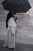 Pope Francis during of a weekly general audience at St Peter's square in Vatican. on October 26, 2016