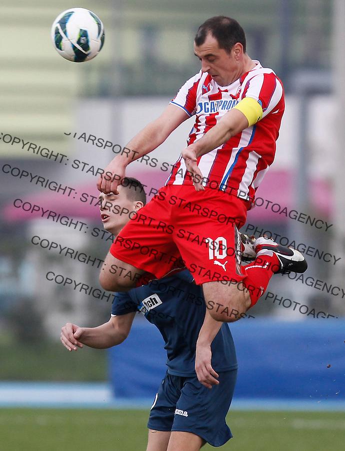 Fudbal season 2013-2014<br /> FK Crvena Zvezda pripreme Portoroz-Koper<br /> Crvena Zvezda v Ankaran<br /> Nenad Milijas <br /> Koper 01.23.2014.<br /> foto: Srdjan Stevanovic/Starsportphoto &copy;