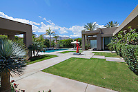 Courtyard garden and pool area of moren luxury home